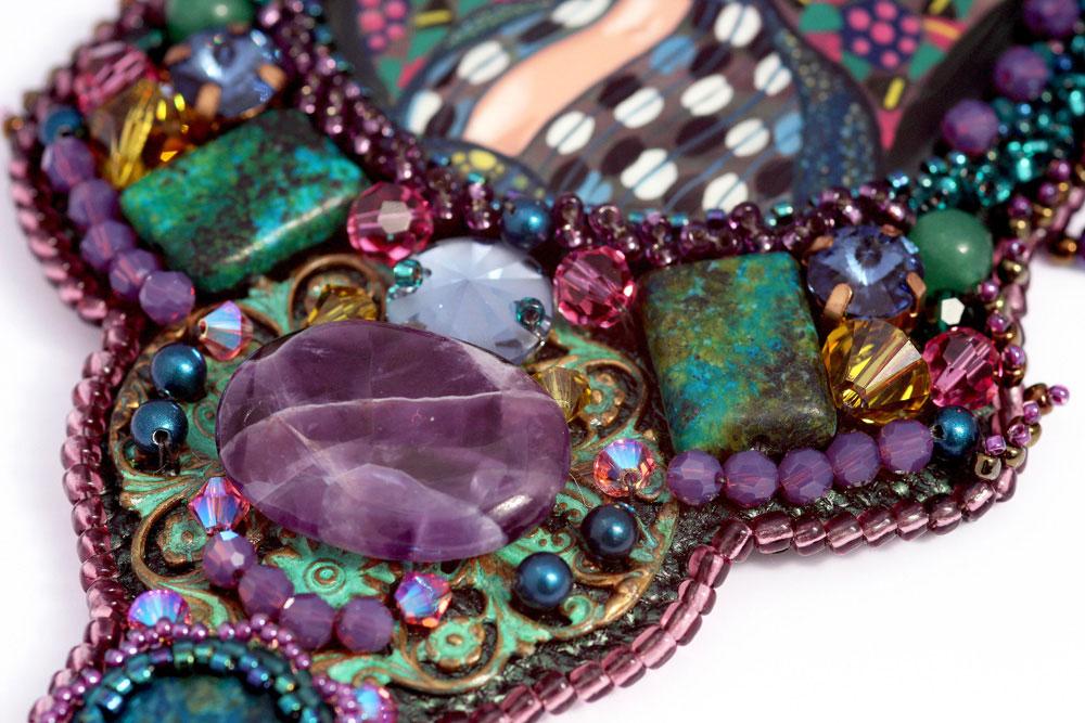 Art Nouveau Necklace Klimt Emilie Floge
