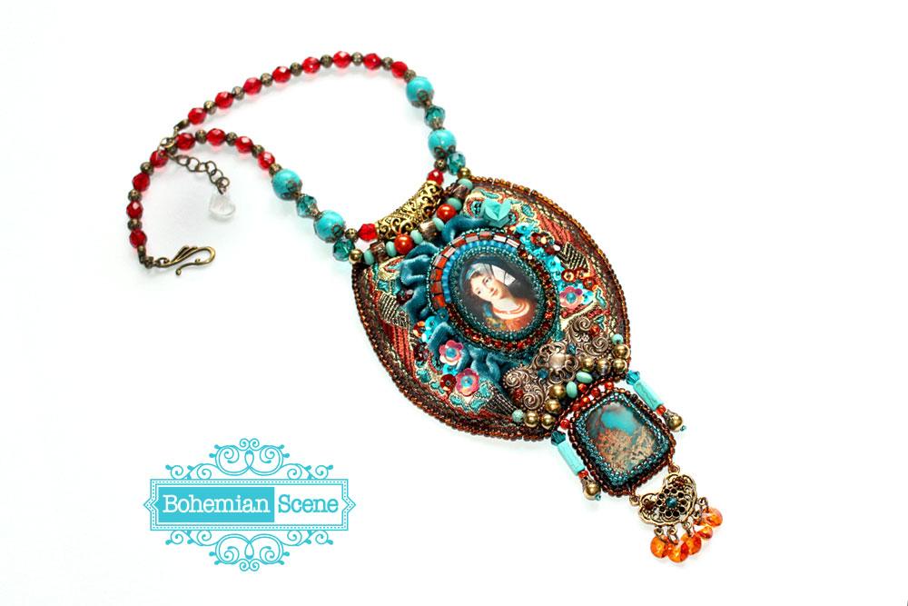 Baroque Velvet Necklace Vigee LeBrun