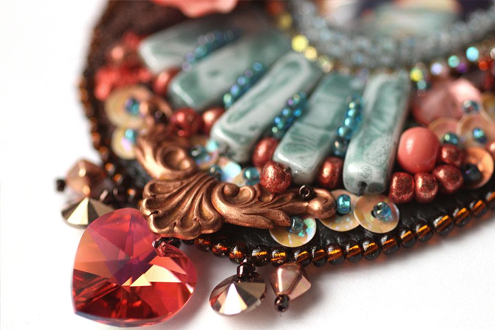 Romantic lace necklace pre-raphaelite Waterhouse