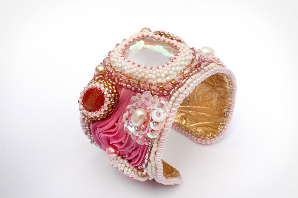 Romantic Pink Silk Cuff