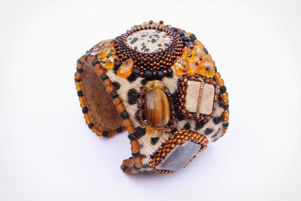 Safari Fur Cuff Leopard