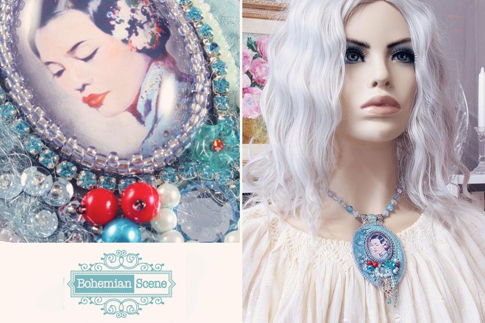 Retro Romantic Necklace Winter Henry Clive