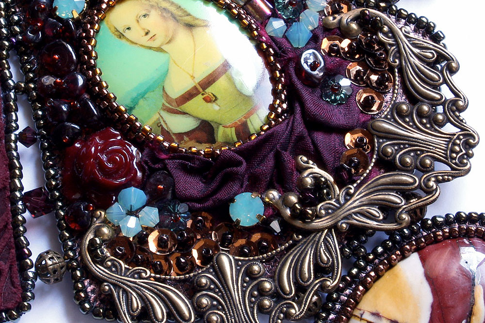 Porcelain Cameo Necklace