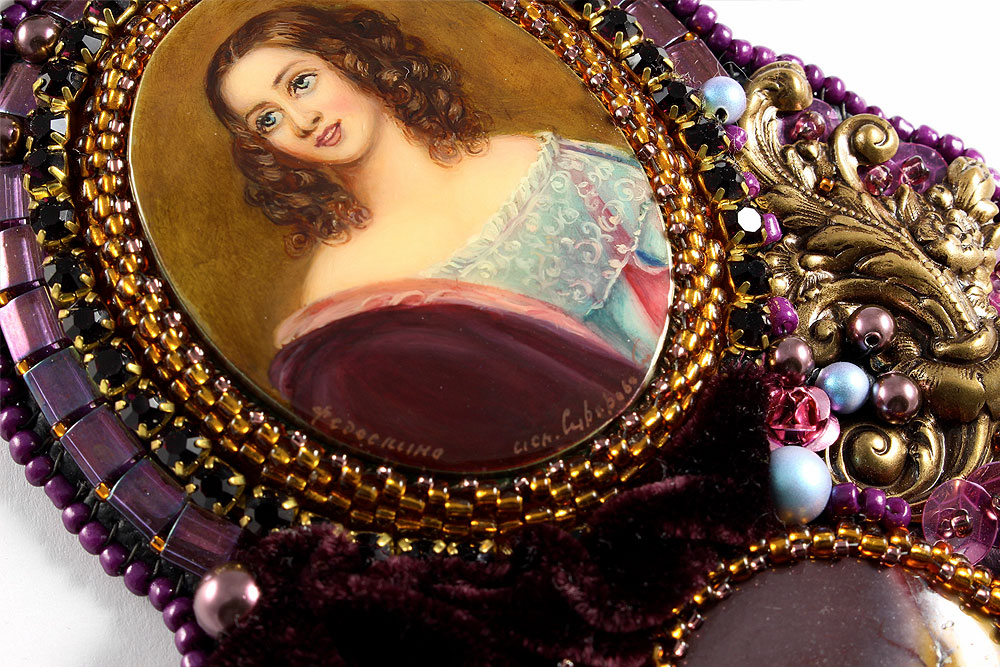Neoclassical Portrait Necklace Karl Stieler