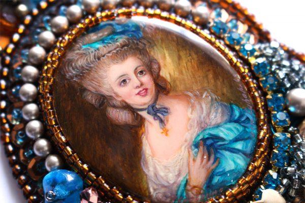 Rococo Lady in Blue Gainsborough