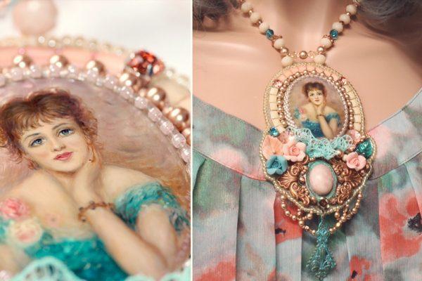 Romantic necklace Impressionist Renoir