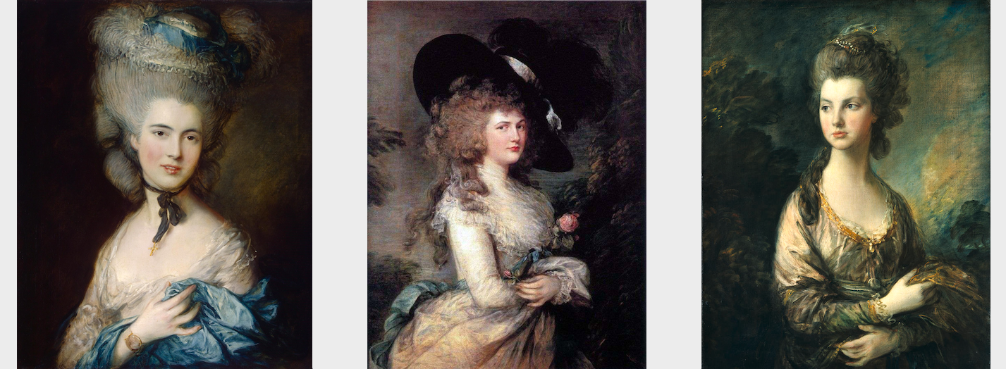 Rococo Woman Portrait Gainsborough